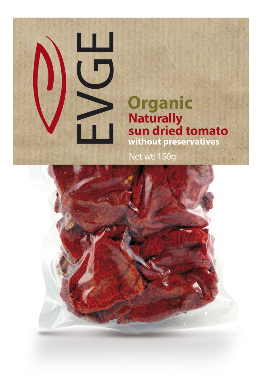 EVGE sun dried tomato plastic bag